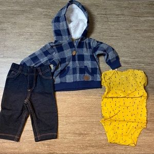 Carters Baby Boys Three Piece Cardigan Set
